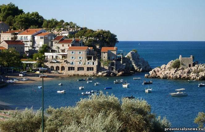 курортный поселок милочер в черногории